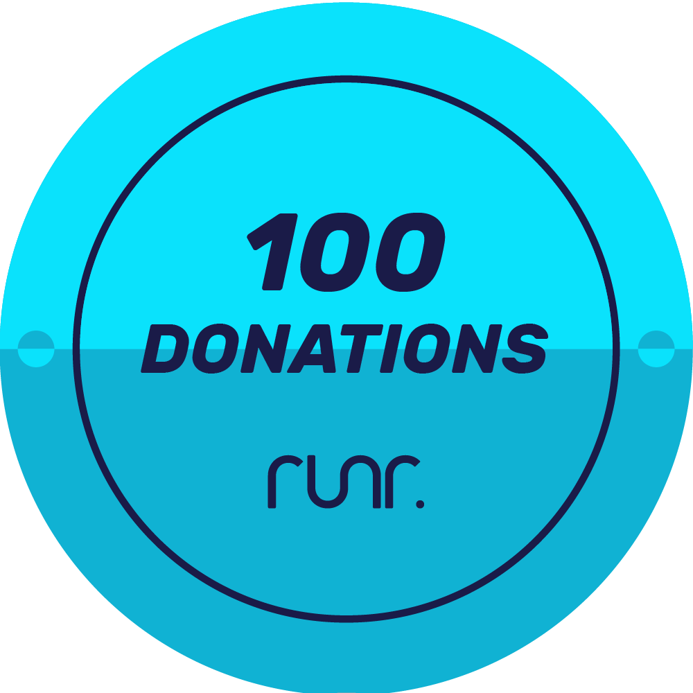 100 Donations Received