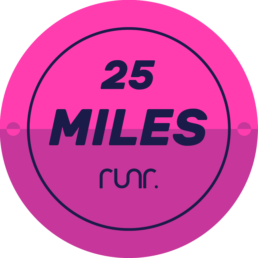 25 Miles Completed